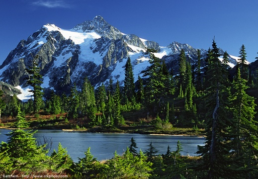 Mount Shuksan at Picture Lake #4