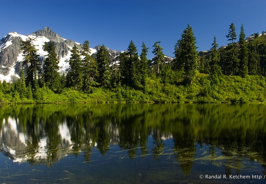 Mount Shuksan at Highwood Lake