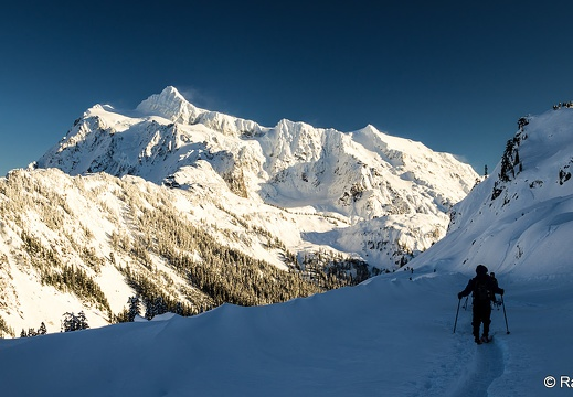 Mount Shuksan, Artist Point Snowshoe Route