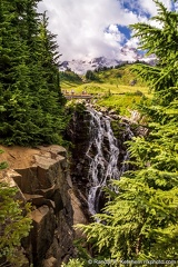 Mount Rainier, Myrtle Falls, Cloudy Day
