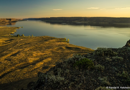 Banks Lake, Grand Coulee, Steamboat Rock View