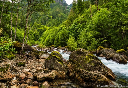 South Fork Sauk River, Rocky Shore