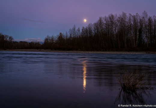 Al Borlin Park Sunset, Moonrise