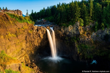 Snoqualmie Falls at Sunset, Warm