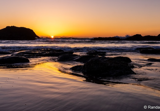 Seal Rock Sunset, Beach Glow