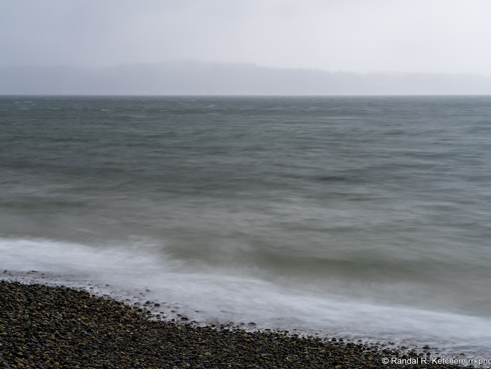 Winter Storm View, Rain Wall, Camano Island State Park
