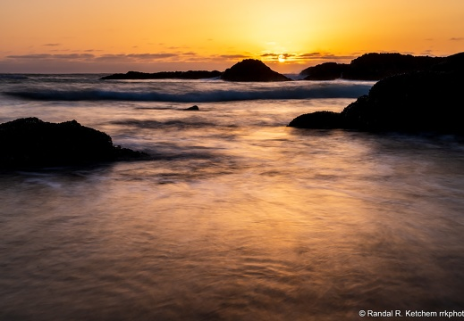 Seal Rock Sunset, Misty Waters